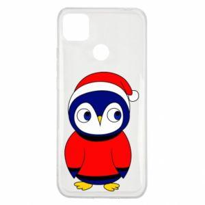 Etui na Xiaomi Redmi 9c Penguin in a hat