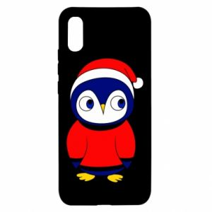 Etui na Xiaomi Redmi 9a Penguin in a hat