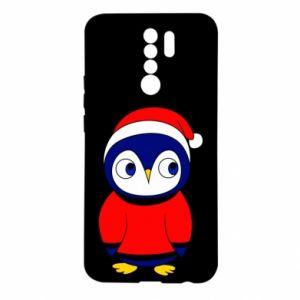 Etui na Xiaomi Redmi 9 Penguin in a hat