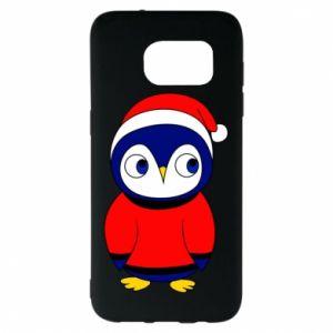 Etui na Samsung S7 EDGE Penguin in a hat