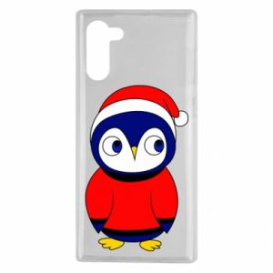 Etui na Samsung Note 10 Penguin in a hat