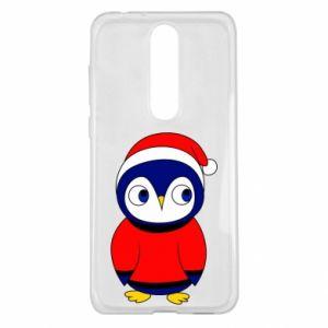 Etui na Nokia 5.1 Plus Penguin in a hat