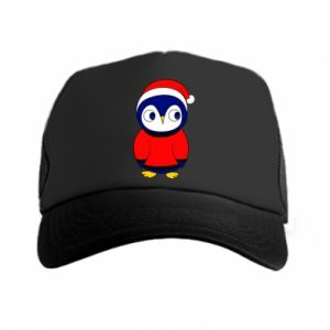 Trucker hat Penguin in a hat
