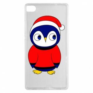 Etui na Huawei P8 Penguin in a hat