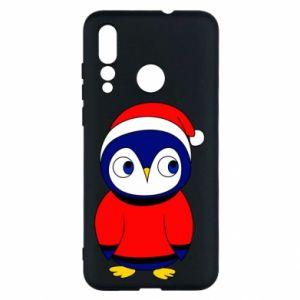 Etui na Huawei Nova 4 Penguin in a hat