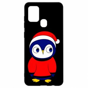 Etui na Samsung A21s Penguin in a hat
