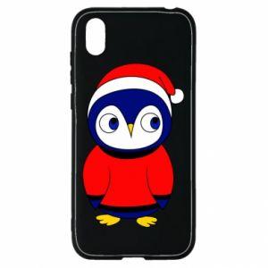 Etui na Huawei Y5 2019 Penguin in a hat