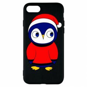 Etui na iPhone SE 2020 Penguin in a hat