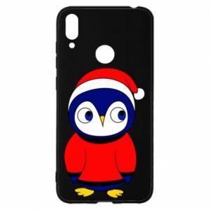 Etui na Huawei Y7 2019 Penguin in a hat