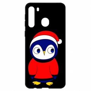 Etui na Samsung A21 Penguin in a hat