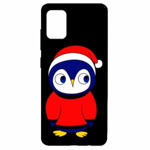 Etui na Samsung A51 Penguin in a hat