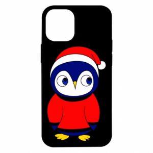 Etui na iPhone 12 Mini Penguin in a hat