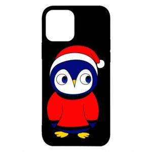 Etui na iPhone 12/12 Pro Penguin in a hat