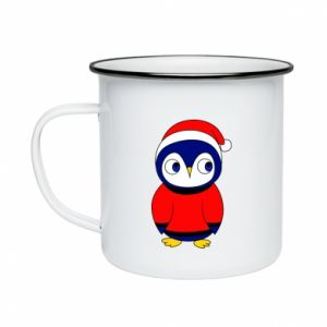 Enameled mug Penguin in a hat