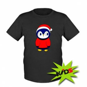Kids T-shirt Penguin in a hat