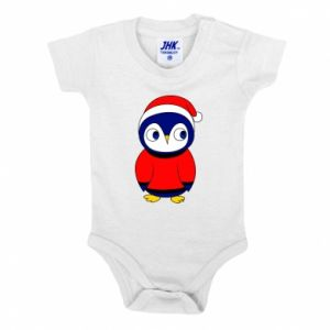 Baby bodysuit Penguin in a hat