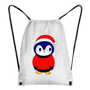 Backpack-bag Penguin in a hat