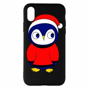 Phone case for iPhone X/Xs Penguin in a hat