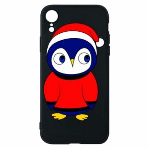 Phone case for iPhone XR Penguin in a hat