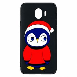 Phone case for Samsung J4 Penguin in a hat