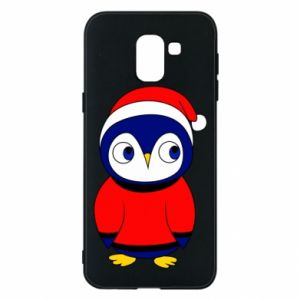 Phone case for Samsung J6 Penguin in a hat