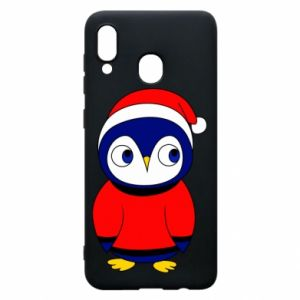 Phone case for Samsung A30 Penguin in a hat