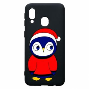 Phone case for Samsung A40 Penguin in a hat