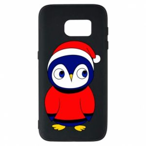 Phone case for Samsung S7 Penguin in a hat
