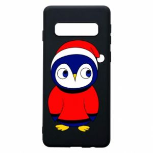 Phone case for Samsung S10 Penguin in a hat
