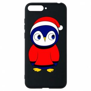 Phone case for Huawei Y6 2018 Penguin in a hat