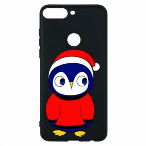 Phone case for Huawei Y7 Prime 2018 Penguin in a hat