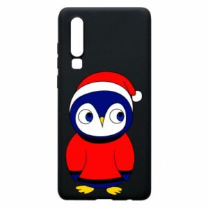 Phone case for Huawei P30 Penguin in a hat