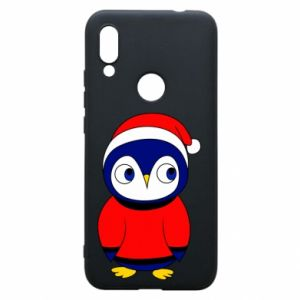 Phone case for Xiaomi Redmi 7 Penguin in a hat