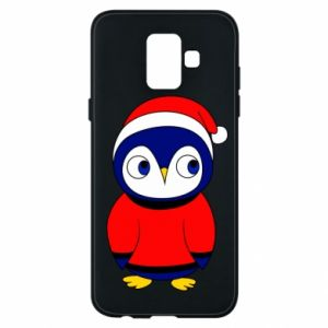 Phone case for Samsung A6 2018 Penguin in a hat