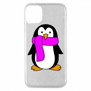 Phone case for iPhone 11 Pro Penguin in a scarf