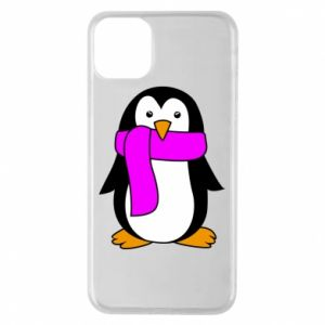 Phone case for iPhone 11 Pro Max Penguin in a scarf