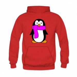 Bluza z kapturem dziecięca Penguin in a scarf