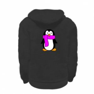 Bluza na zamek dziecięca Penguin in a scarf