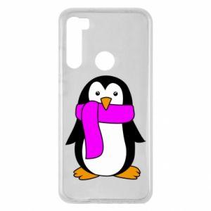 Etui na Xiaomi Redmi Note 8 Penguin in a scarf