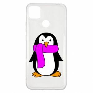 Etui na Xiaomi Redmi 9c Penguin in a scarf