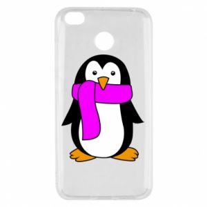 Etui na Xiaomi Redmi 4X Penguin in a scarf