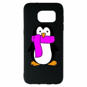 Etui na Samsung S7 EDGE Penguin in a scarf