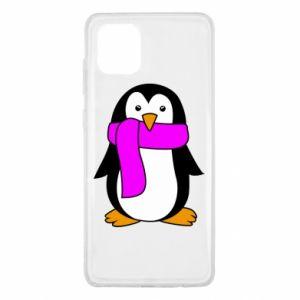Etui na Samsung Note 10 Lite Penguin in a scarf