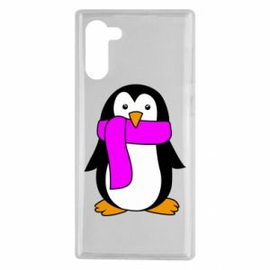 Etui na Samsung Note 10 Penguin in a scarf