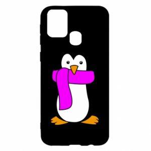 Etui na Samsung M31 Penguin in a scarf