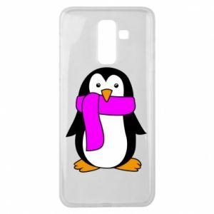 Etui na Samsung J8 2018 Penguin in a scarf