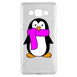 Etui na Samsung A5 2015 Penguin in a scarf