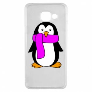 Etui na Samsung A3 2016 Penguin in a scarf