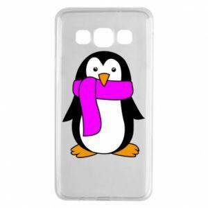 Etui na Samsung A3 2015 Penguin in a scarf