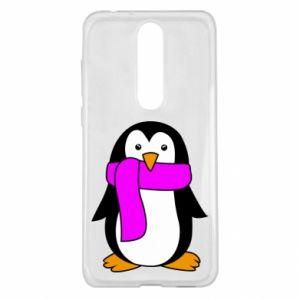 Etui na Nokia 5.1 Plus Penguin in a scarf